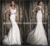 Mermaid Wedding Gown Long Sleeves Lace Custom Bridal Dress L15316