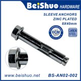 BS-An02-002 M8X40 Carbon Steel Hex Nut Expansion Sleeve Anchor