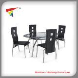 Tempered Glass Dining Set Livingroom Furniture (DT047)