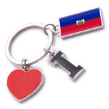 New Custom Metal Souvenir Haiti Keyring