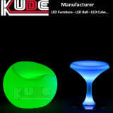 LED Pub Furniture Changing Color PE Garden Outdoor Table