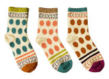 Women′s Cotton Crew Socks (WA028)