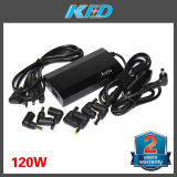 2 Years Warranty Power Charger, 120W Universal Adapter with 8 Tips 2 in 1 Car and Home Use