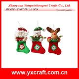 Christmas Decoration (ZY16Y275-1-2-3 23CM) Merry Christmas Sock Gift