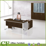 Wooden Panel MFC Office Executive Desk with Movable Side Cabinet