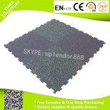 Anti-Slip Interlocking Rubber Flooring Tiles for Fitness Center Heavy Duty Shockproof
