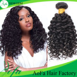 Wholesale 7A/8A Deep Wave Human Hair Extension Virgin Brazilian Hair