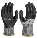 Knuckle Dipping Safety Glove with Sandy Nitrile (ND8062)