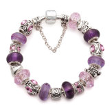 Mother's Day Gifts Fashion European Silver Purple Fit European Beads Bracelet Jewelry Jewellery