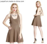 2015 New Knot Back Design Backless Slip Free Prom Dress