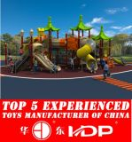 Outdoor Children Playground Plastic Slide Toys Equipment Used (HD15A-039A)