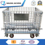 Warehouse Folding Stackable Storage Wire Mesh Containers with Casters
