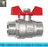 Brass Male-Male Ball Valve with Butterfly Handle (a. 0115)