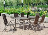Outdoor Furniture Aluminum Plastic Wood Dining Chair and Table Set (BZ-P007)