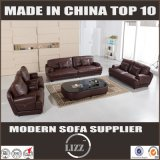 2017 Italy Unique Genuine Leather Sofa with Coffee Table