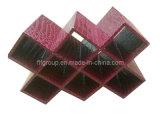 Customized Fashionable Unique Design Leather Wine Rack (FG8018)