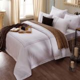 100% Egyptian Cotton Bedding Sets Satin for Hotel (DPF10724)