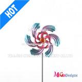 Windmill Metal Printing Garden Stake Decorative Oudoor Stake