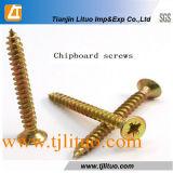 DIN7505 Manufacturer Carbon Steel Yellow Zinc Double Countersunk Chipboard Screws