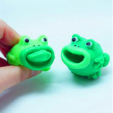 Anti Stress Squeeze Rubber Frog Toy with Pop-out Tongue