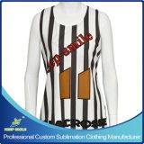 Custom Made Sublimation Girl′s Lacrosse Race Back Reversible Jersey