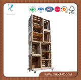 10 Apple Crate Display Unit on Wheels