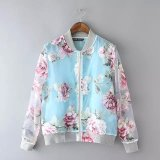 Latest Design Fashion Floral Printing Women Bomer Jacket