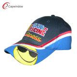 Blue Cotton Baseball Cap with Wave Stripe (CW-0688)