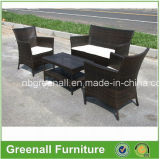 Two Layer Coffee Table Wicker Rattan Simple Sofa Set (GN-9048S)