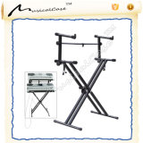 Heavy Duty Double X Frame Keyboard Stand with Straps