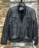 Navy Eco-Friend Fashion Stylish Men PU Leather Coat (T-J02)