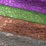 Colorful Foiled Polyurethane Faux Imitation Leather Bag Shoe Fabric