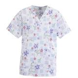 Ly Fashionable Flower Prints Nurse Scurb Uniform