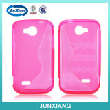 Beautiful Antil Dust Wave Pattern TPU Case for Nextel V35 with S Letter Shape