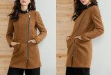 Ladies Round Collar Winter Jacket with Stylish Slim Fashion Jacket