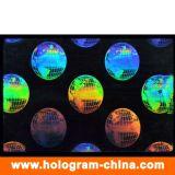 Transparent Anti-Fake 3D Laser ID Hologram Overlays