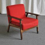 Modern Leisure Wooden Frame Hotel Lobby Cafe Armchair (SP-HC437)