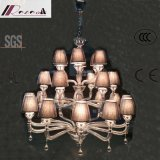 European Style Hotel Crystal Chandelier with Fabric Shade