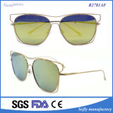 Latest Designer Style Top Quality Metal Frame Mirrored Cheap Sunglasses