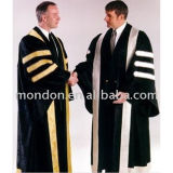 Us Black Doctorate Gown with Stripe for Sale