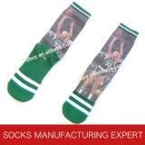 Men′s Printed Basketball Sport Sock