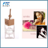 Fashion Clear Air Glass Perfume Bottles with Wooden Caps