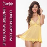Lace Top Romantic Sleepwear for Women (L27879-3)