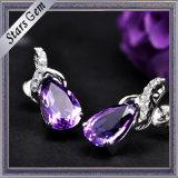 Pear Shape Beautiful Dark Purple Natural Amethyst for Jewelry