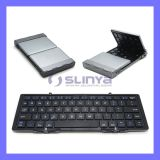 Universial Mini Portable Slim Folding Auminum Wireless Foldable Bluetooth Keyboard for Ios Andriod Windows PC Tablets
