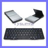 Universial Mini Portable Slim Folding Auminum Wireless Foldable Bluetooth Keyboard for Ios Andriod Windows PC Tablets