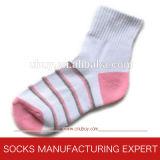 Girls′ Pattern Cotton Sport Socks
