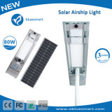 Bluesmart 80W Solar Products Garden Lighting Outdoor Light LED Street Lamp with Solar Panel