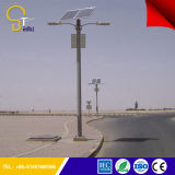 Hot Sale Galvanized 8m Pole 40W LED Solar Street Light with Double Arms