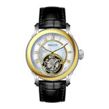 High Quality Tourbillon Gold Men Watches Leather Mens OEM Skeleton Automatic Mechanical Watch